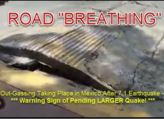 road breathing mexico earthquake, road breathing mexico earthquake video, road breathing mexico earthquake picture, The road started breathing in Mexico after the M7.1 earthquake on September 19 2017