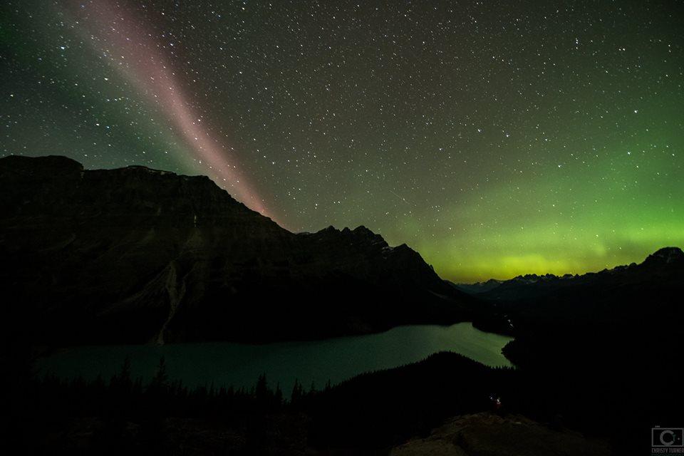 Steve and Milky Way bild up an angel in the sky of Alberta in Canada, steve alberta september 16 2017, canada steve angel milky way