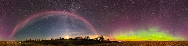 Mysterious auroral arc steteve, steve Mysterious auroral arc, Mysterious auroral arc alberta steve, steve alberta pictures, Mysterious auroral arc named Steve appears in the sky of Aerta on September 27, 2017