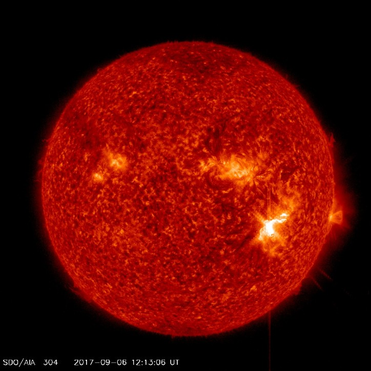 strongest solar flare in more than a decade on sept 6 2017, MAJOR X-CLASS SOLAR FLARE, strongest solar flare in more than a decade, sunspot AR2673 unleashed a major X9.3-class solar flare, sunspot AR2673 unleashed a major X9.3-class solar flare september 6 2017