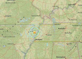 M3.7 earthquake hits in New Madrid Fault near Manila, Arkansas on October 15 2017