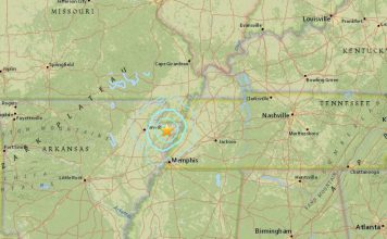 M3.7 earthquake hits in New Madrid Fault near Manila, Arkansas on October 15 2017