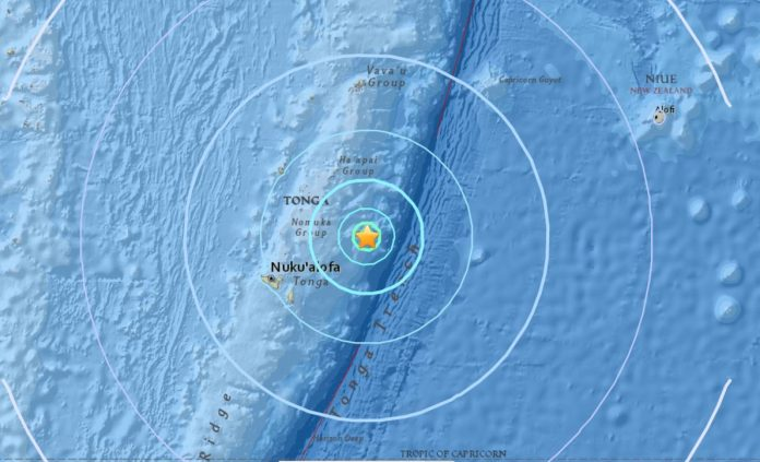 M6.0 earthquake hits Tonga, M6.0 earthquake hits Tonga on October 18 2017, M6.0 earthquake hits Tonga on October 18 2017 map, M6.0 earthquake hits Tonga on October 18 2017 tsunami