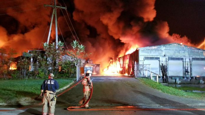 Parkersburg fire, Ames on fire at Parkersburg West Virginia, Ames on fire at Parkersburg West Virginia pictures, Ames on fire at Parkersburg West Virginia video