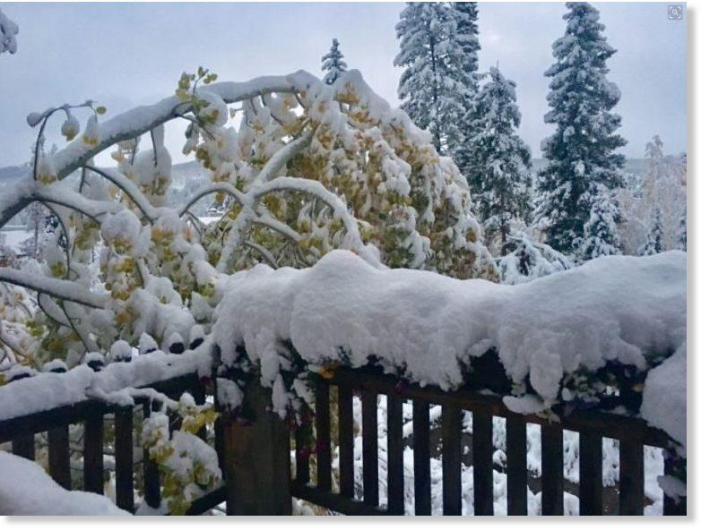 colorado mountains snowstorm october 2017, colorado mountains snowstorm october 2017 pictures, colorado mountains snowstorm october 2017 videos, Early snowfall disrupts power and traffic in Colorado mountains