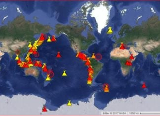 current erupting volcanoes october 2017, current eruptions, map current volcanic eruptions, current volcanic eruptions