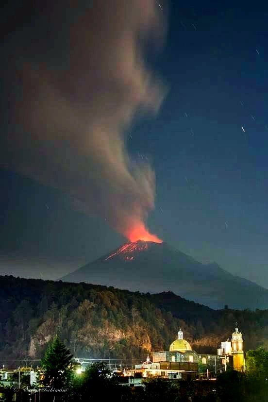 eruption popocatepetl volcano september 30 2017, enhanced volcanic activity popocatepetl volcano, popo eruption, popocatepetl volcano erupts september 30 2017