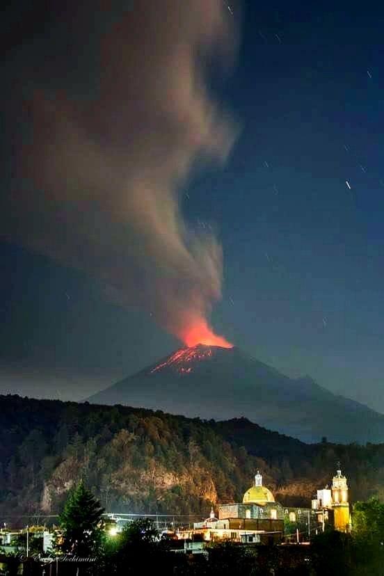 eruption popocatepetl volcano september 30 2017, enhanced volcanic activity popocatepetl volcano, popo eruption, popocatepetl volcano erupts september 30 2017
