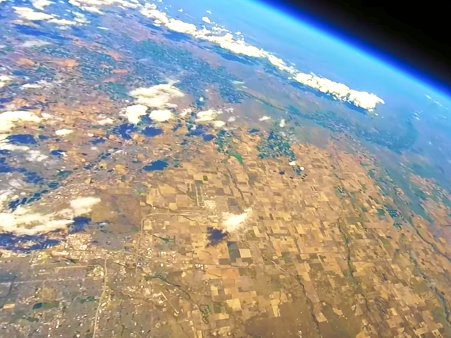 Colorado family launches GoPro into stratosphere and an amazing video falls back to Earth, Colorado family launches GoPro into stratosphere and an amazing video falls back to Earth video, gopro camera space video, gopro camera stratosphere video