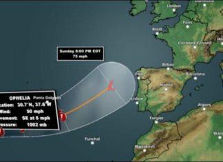 hurricane ophelia, hurricane ophelia path, hurricane ophelia route, hurricane ophelia map, hurricane ophelia video