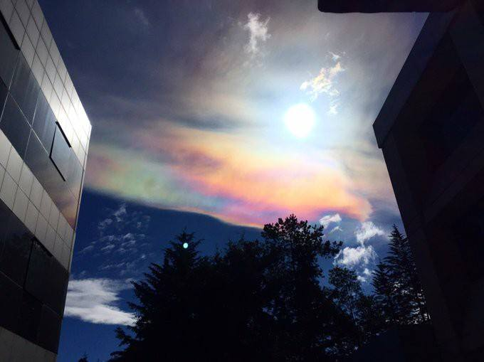Huge iridescent cloud appears in sky over Toluca Mexico on October 4 2017, Huge iridescent cloud appears in sky over Toluca Mexico on October 4 2017 pictures, Huge iridescent cloud appears in sky over Toluca Mexico on October 4 2017 video, Sign of impending strong earthquake? Huge iridescent cloud appears in sky over Toluca Mexico on October 4 2017