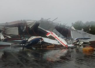 Tornado destroys Hickory airport in North Carolina on October 23 2017, tornado north carolina october 23 2017, tornado hickory north carolina