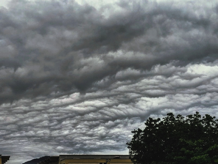 Apocalyptic undulatus asperatus cloud over Brazil on October 4 2017