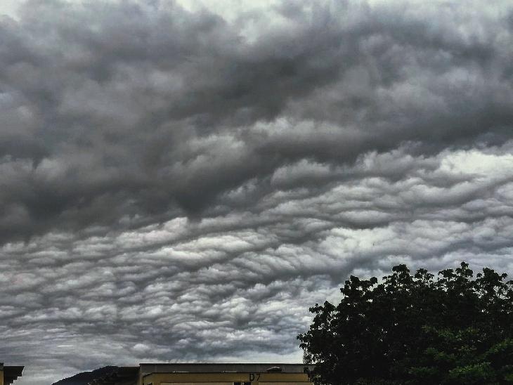 Apocalyptic undulatus asperatus cloud over Brazil on October 4 2017
