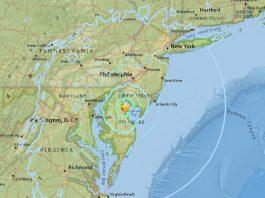 M4.1 earthquake hits delaware, earthquake delaware nove 30 2017, M5.1 earthquake downgraded to M4.1 tremor hits near Dover, Delaware on Nov. 30