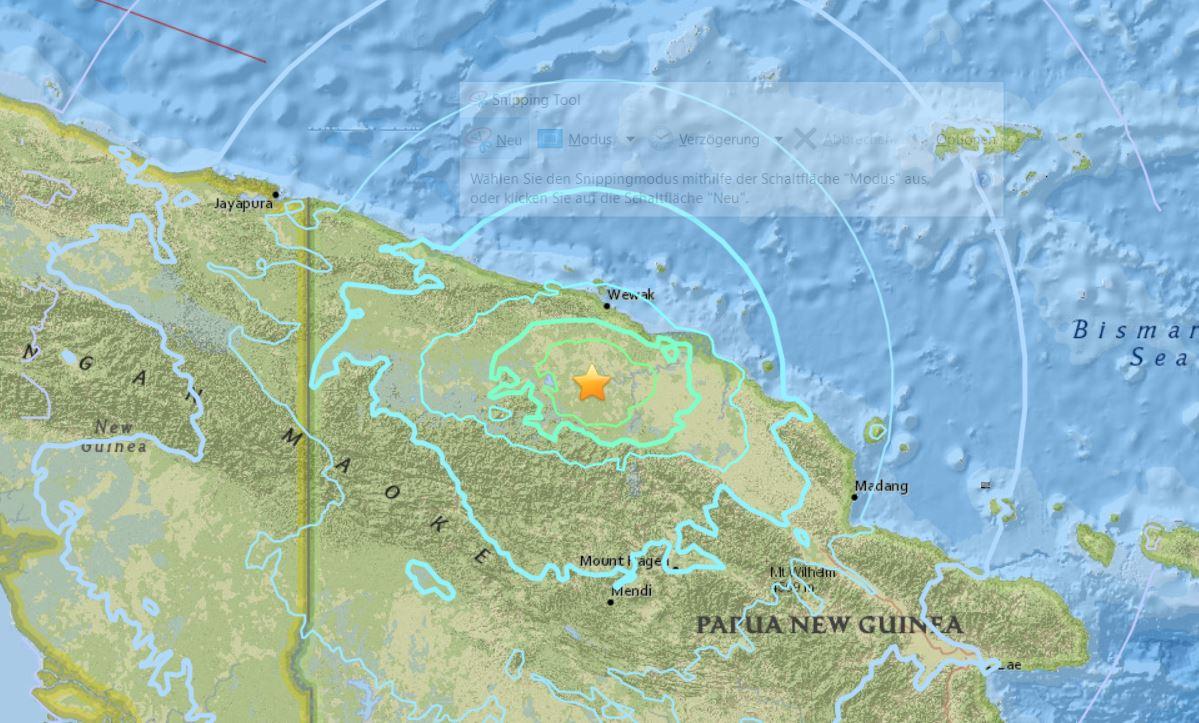 M6.5 earthquake Papua New Guinea on November 7 2017, M6.5 earthquake Papua New Guinea on November 7 2017 map