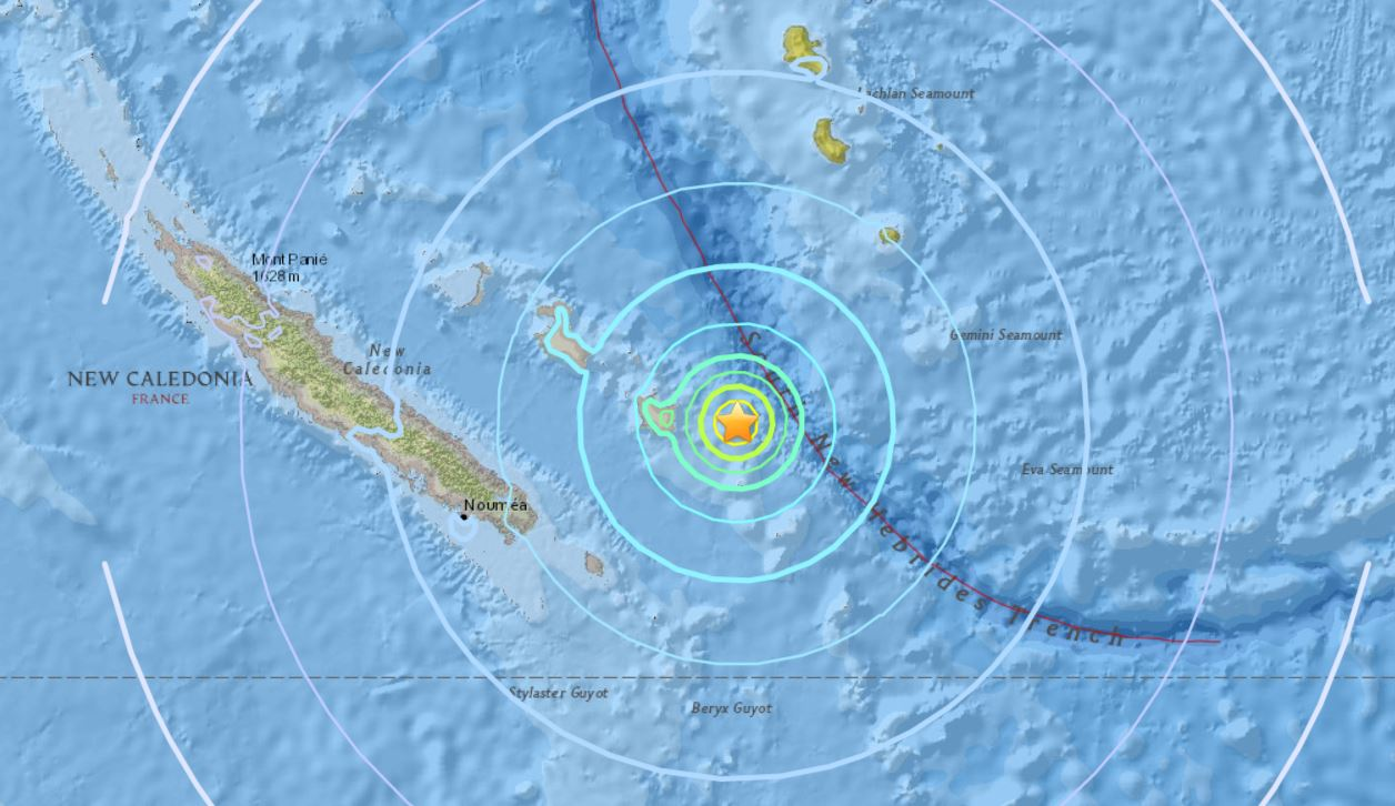 M6.6 earthquake hits New Caledonia on Nov 19th, M6.6 earthquake hits New Caledonia on Nov 19th map