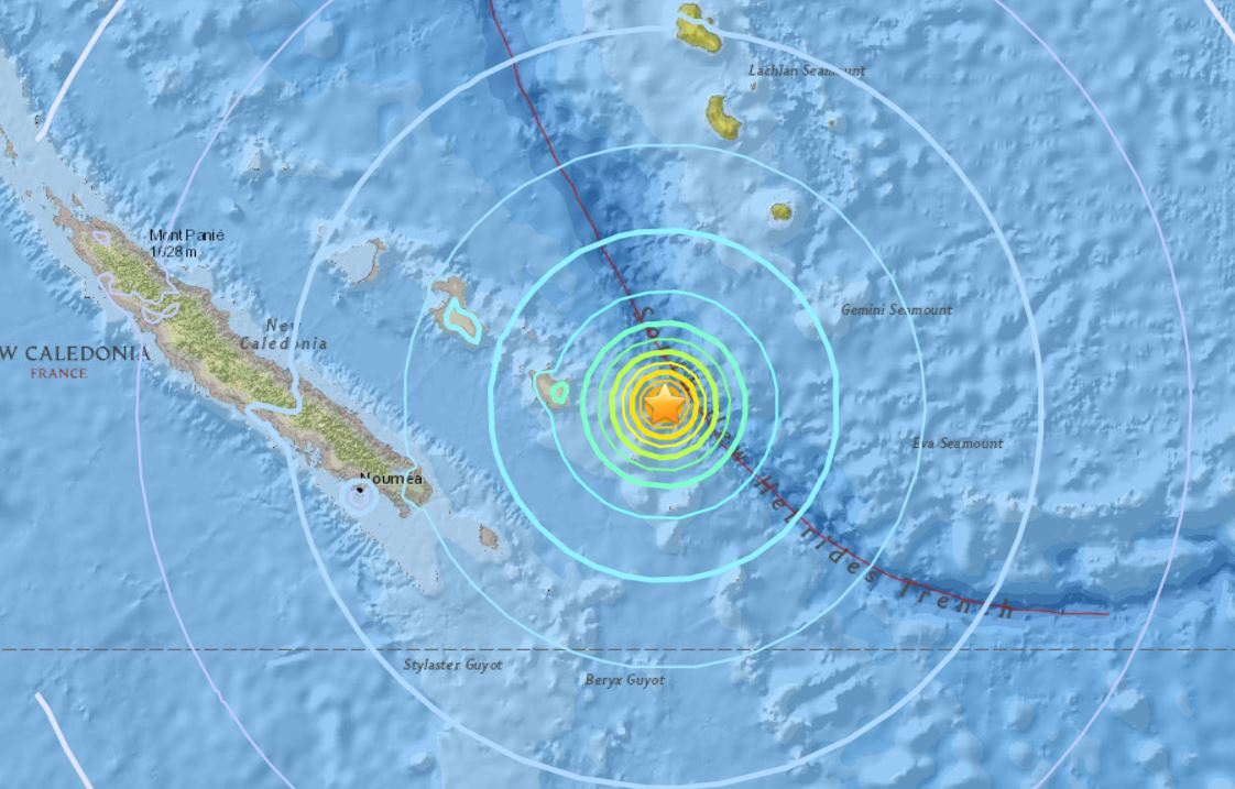 M6.6 earthquake hits New Caledonia on November 1 2017, strong earthquakes hit new caledonia november 1 2017, M6.6 earthquake new caledonia, M6.0 earthquake new caledonia, earthquake new caledonia november 1 2017, A swarm of strong earthquakes is currently striking east of Tadine in New Caledonia