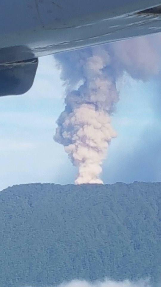Ambae volcano on september 23, 2017