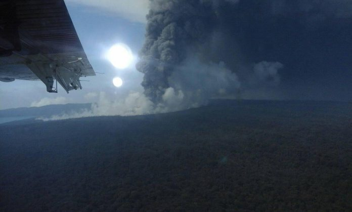 Ambae volcanic eruption November 7 2017