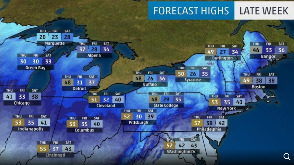 arctic blast usa, arctic blast usa 2017, arctic blast usa november 2017, An arctic blast will sweep across the USA in November 2017