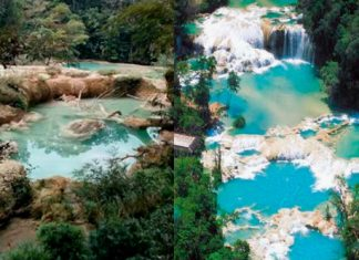 The Cascadas de Agua Azul waterfall in Chiapas, Mexico has completely disappeared overnight