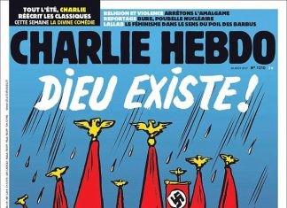Charlie Hebdo: God drowned all the neonazis from Texas