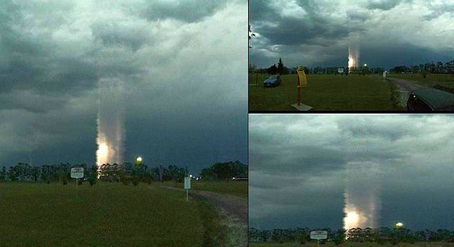 Mysterious column of light appears over Argentina, Mysterious column of light appears over Argentina picture