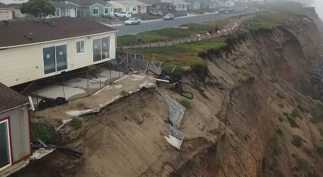 coastal erosion pacifica, coastal erosion pacifica video, coastal erosion pacifica november 2017
