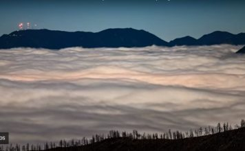 Ocean of clouds over Colorado Spings on November 3 2017, Ocean of clouds over Colorado Spings on November 3 2017 video