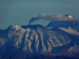 Great Sitkin volcano eruption in Alaska on November 19 2017, great sitkin volcano eruption