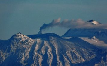 Great Sitkin volcano eruption in Alaska on November 19 2017, great sitkin volcano eruption