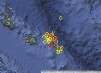 Swarm of earthquakes in New Caledonia on November 19 2017, new caledonia earthquake, strong earthquakes new caledonia nov 19