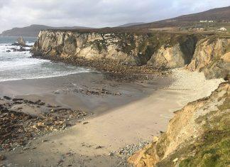 sandy beach reappears in Ireland, beach reappears ireland, ireland beach reappears