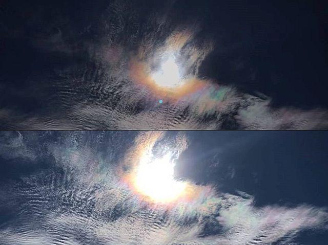 Intense fire rainbow sky phenomenon filmed in the sky of Gilbert, Arizona on November 6 2017, fire rainbow arizona november 2017 video, fire rainbow arizona november 6 2017