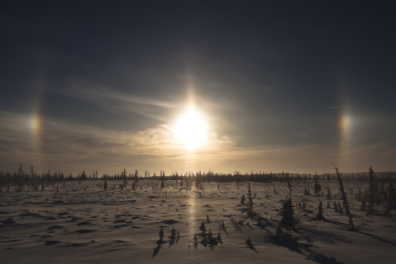 sun dog phenomenon, three suns phenomenon, sundogs, sundog, sundog phenomenon
