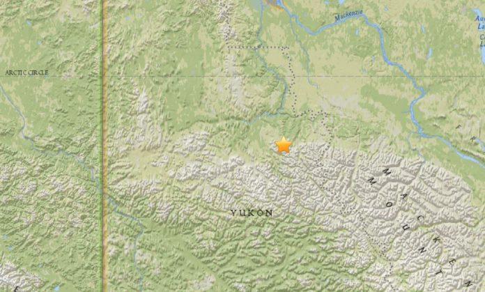 rare M5.0 earthquake yukon canada, M5.0 earthquake yukon canada