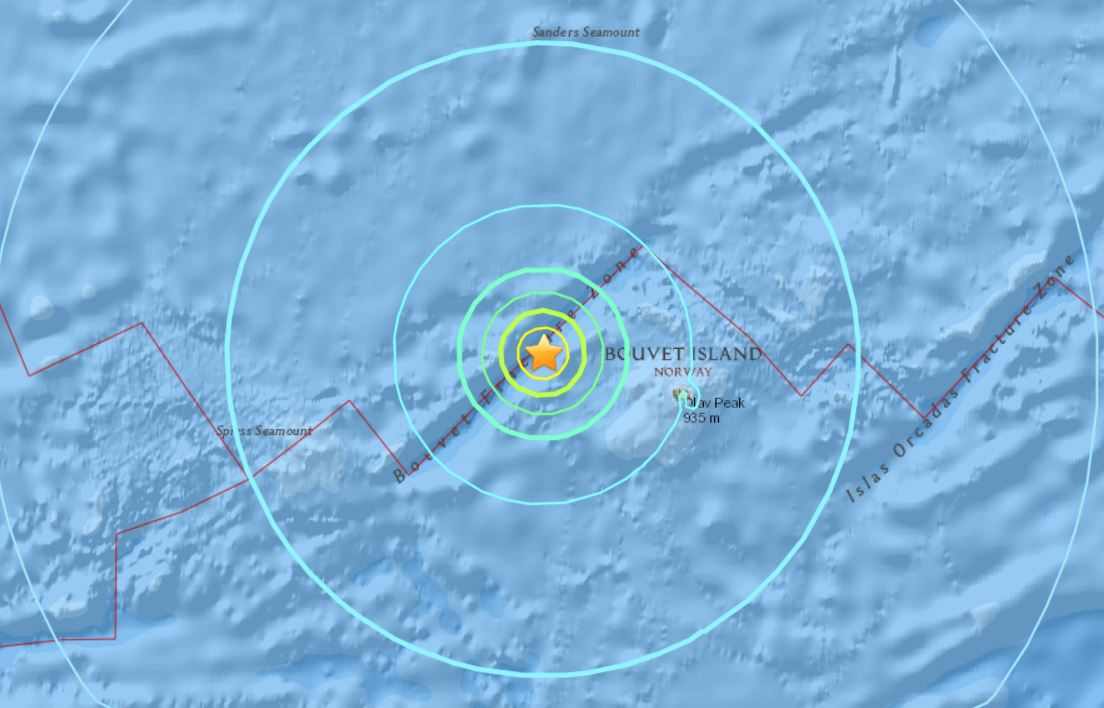 M6.5 earthquake bouvet island, M6.5 earthquake bouvet island dec 13 2017, M6.5 earthquake bouvet island december 13