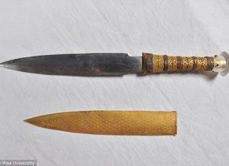 The iron dagger blade of ancient Egyptian King Tutankhamun is of extraterrestrial origin