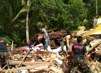 Consequences of floods and landslides after Cyclone Cempaka engulfs Java in Indonesia.