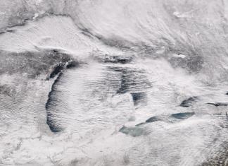 cloud streets snowstorm Erie 2017, cloud streets phenomenon, haarp cloud snowstorm 2017
