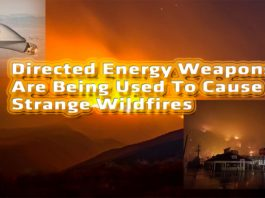 Directed energy weapons being used to cause strange Wild Fires