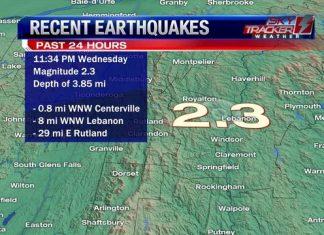 rare earthquake usa, us earthquake, M2.3 earthquake hits Vermont on December 20 2017