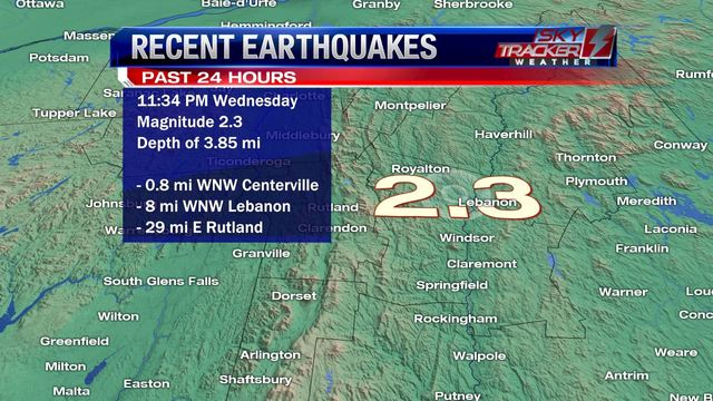 rare earthquake usa, us earthquake, M2.3 earthquake hits Vermont on December 20 2017