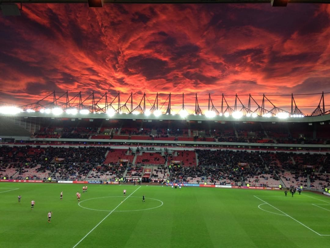 ... Fiery Sunset Stadium Of Light Sunderland UK Pictures, Fiery Sunset Stadium  Of Light Sunderland UK