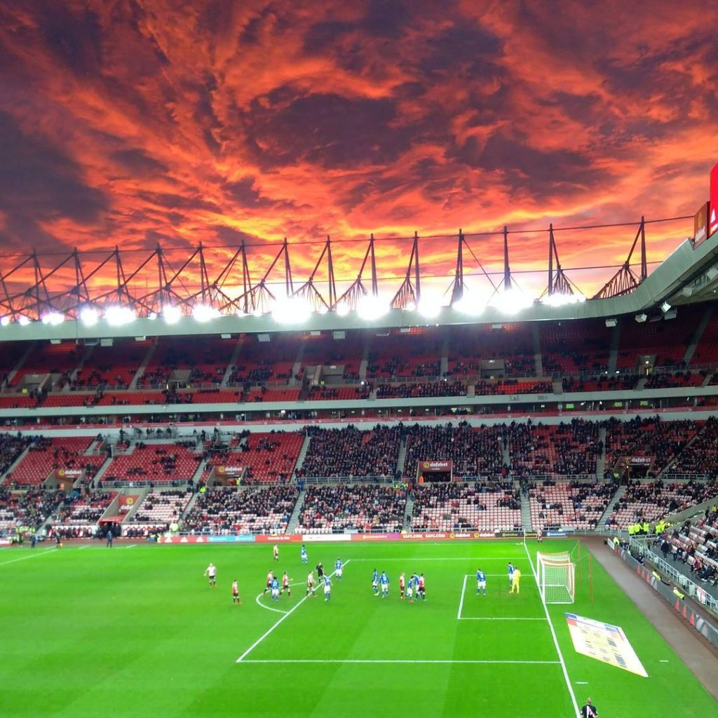 fiery sunset stadium of light sunderland UK pictures, fiery sunset stadium of light sunderland UK video, fiery sunset stadium of light sunderland UK, sunset pictures, fiery sunset sunderland 2017, apocalyptic sunset
