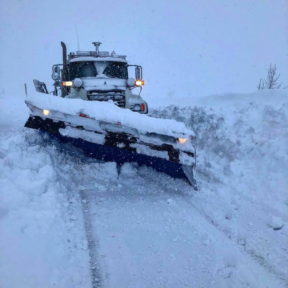 Enormous snow accumulation in Alaska on December 6 2107