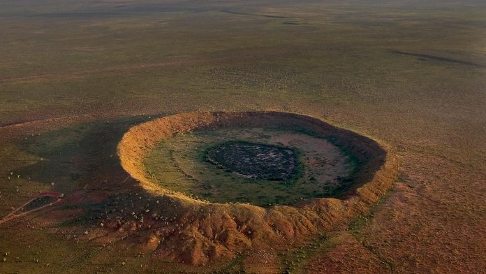 Geologists discover ancient meteorite impact crater in