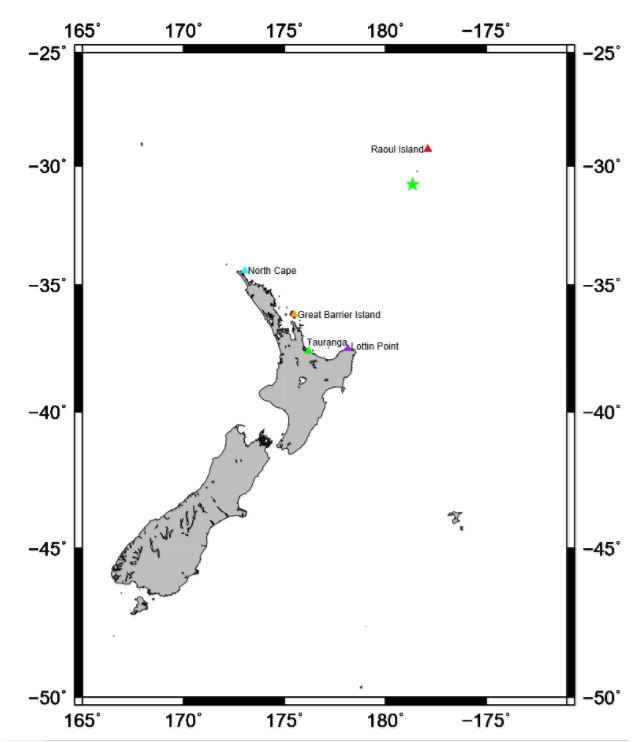 mysterious tsunami kermadec New Zealand, Mysterious tsunami waves detected in the Kermadecs, New Zealand on December 8 2017, Mysterious tsunami waves detected in the Kermadecs, New Zealand on December 8 2017 after a M5.9 earthquake