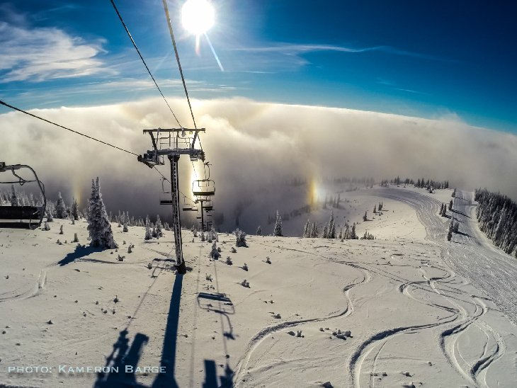 sun halo whitefish montana, sun halo whitefish montana pictures, Complex sun halo appears over Whitefish, Montana on December 7 2017